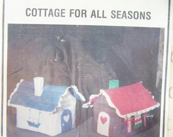 Gingerbread House Cottage Sewing Pattern, Connie's Chicken Coup Pattern, Holiday Decor, Country House Pattern, Vintage 80's Sewing Crafts
