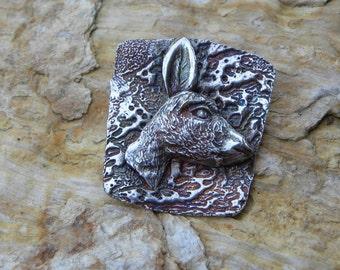 fine silver donkey, burro, pendant necklace