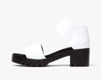 JRS Dual Strap Sandals - White