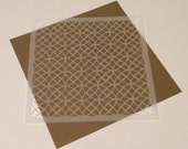 Square 5 inch stencil - Circle / Lacy Pattern