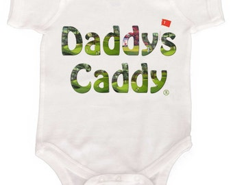 Baby Golf Baby Bodysuit Daddys Caddy NewBorn Romper up to Toddler Tshirts New Dad Gift Infant One Piece
