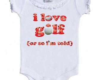 Funny Golf Bodysuit Ladybug One Piece Newborn Girl Golf Rompers to girls tees