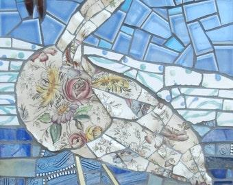 Ichabod, Original picassiette mosaic Bird by Gila Rayberg
