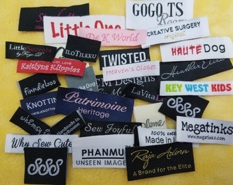 Personalized  Woven Labels 500pcs ,  Free Shipping (Letter Only) for boutique / Scarf / Hoodies / Backpacks / Tees / Bottoms / Coats / Tanks