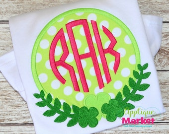 Machine Embroidery Design Embroidery St. Patty's Frame Applique INSTANT DOWNLOAD