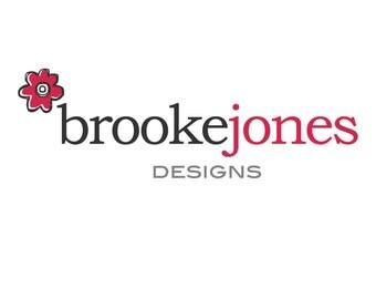 Premade Logo Design - Illustrated Flower Boutique Logo, Digital Logo, Photography Logo