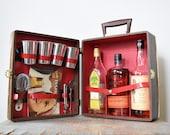 vintage travel bar, portable travel bar, 1960s travel bar by griffon
