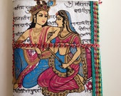 Radha Krishna, White Journal, Epitome of Pure Love, Indian Art Journal, Eternal Couple, Blank Diary, Personal Feelings Notebook, Love Quotes