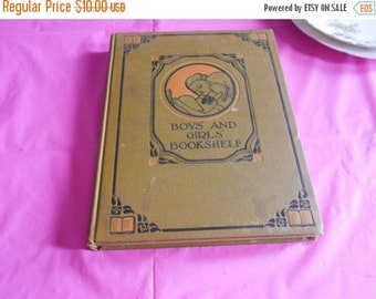 2 DAY SALE Childrens book nature and outdoor life BOYS And Girls Bookshelf Book The University Society New York 1912
