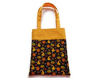 Fabric Gift/Goodie Bag - Fall Harvest Pumpkins and Gords