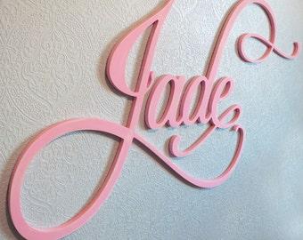 48 INCH Wide Painted Script Font Fancy Flourish Wall Letters
