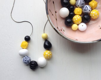 textbook necklace - vintage remixed lucite