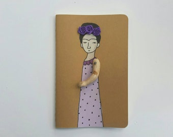 Frida Kahlo Moleskine Cahier Journal Frida Kahlo ruled paper