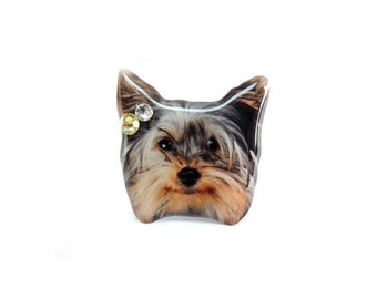 Yorkie Terrier Puppy Dog Ring - A0010-R D20 Made to Order