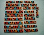22QQ - GORGEOUS 22 pc BORDER Tiles - Ceramic Mosaic Tiles
