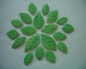 19E - 19 pc GORGEOUS GREEN Leaves - Ceramic Mosaic Tiles