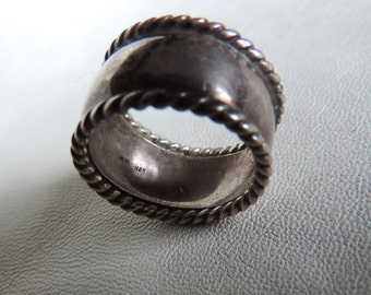 wide band ring handmade sterling silver