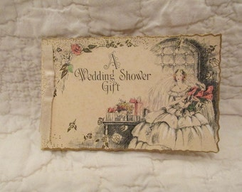 Vintage Wedding Shower Gift Card SALE
