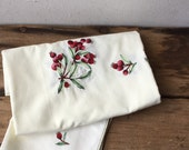 Vintage Square Tablecloth with matching napkins