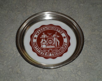Massachusetts Institute of Technology sterling silver Graff Washbourne & Dunn vintage trinket dish coaster