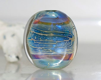 Little Ethereal Waters Handmade Lampwork Glass Focal Bead