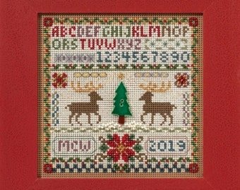 Mill Hill Buttons & Beads Winter Series Holiday Sampler  MH14-1633 Christmas Counted Cross Stitch Kit