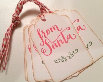 From Santa Christmas Gift Tags, From Santa Christmas Package Tags