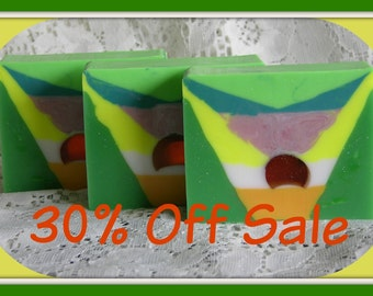 HANDMADE SOAP SALE * 30% Off - Limited Edition Soap - Unique Abstract Style & Design - Home Decor - Detergent Free Glycerin Soap Bath Bars
