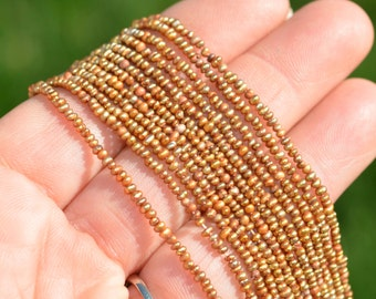 1 Strand Golden Brown Cultured Freshwater Seed Pearls BD890