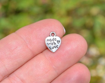 "1 Heart  ""Made with Love""  Charm SC1007"