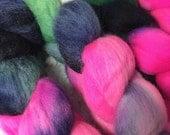 Hand dyed Polworth Top - 4 oz - Aurora (Borealis)
