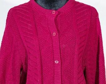 Vintage pendleton womens cardigan virgin wool 1950's size M/Medium red