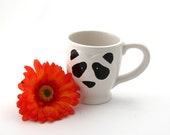 Panda mug , cute kawaii panda bear tea mug, cup with heart , SALE home and living, pottery and ceramic, gifts under 10