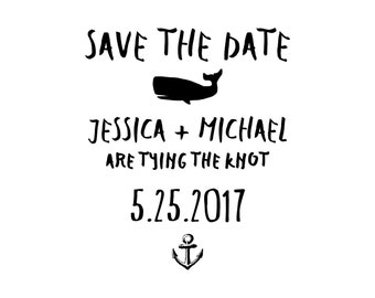 Nautical Save the Date Stamp