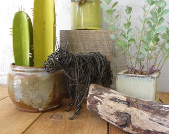 Wire Animal Mule Sculpture