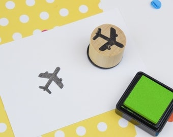 Plane Mini Stamp - Handmade