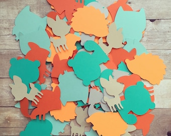 Woodland Confetti Set Of 100- Babyshower, Birthday, Party Decor