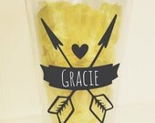 On SALE- Heart and Arrow BLANK Chalboard Decal, Chalkboard Sticker, Tumbler Decal, Mason Jar Decal