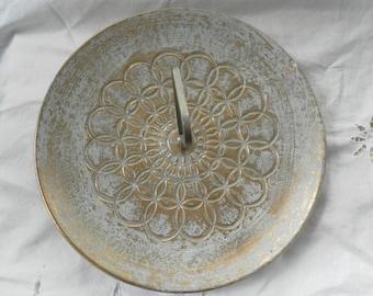 STANGL Gold washed Ceramic Dessert Serving Plate mid century design