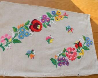 "Wonderful hungarian embroidery ""Kalocsai"", big size pillow cover"
