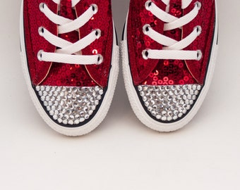 Custom | Add Acrylic rhinestones to the toes of your shoes