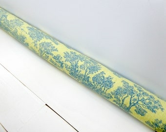 Door Snake - Unique Home Decor - Draft Stopper - Traditional Decor - Traditional Nursery -  Green Toile Draft Stopper.  237.