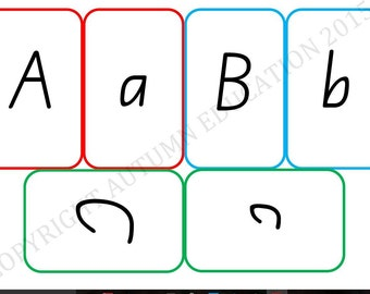 Upper and Lower Case Alphabet Preschool Letters Flash Cards Australian