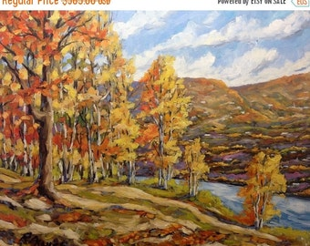 On Sale Mountain Vista  Original Large Oil Painting  - Landscape - created by Prankearts