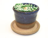 Ceramic Match Striker Fireplace accessories candle lighter Periwinkle Blue  In Stock Ready to Ship