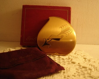 Vintage Elgin American Powder Compact   with Box and Bag     Lovely!! Bride Dolls not included!