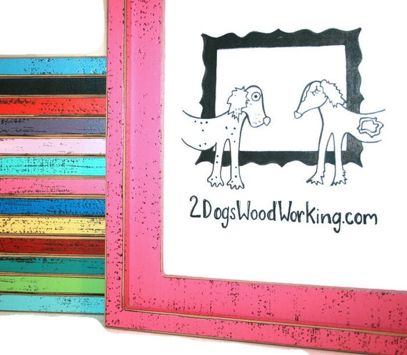 Picture Frame 24x36 Or 24x30 Colored Shabby Frame Large