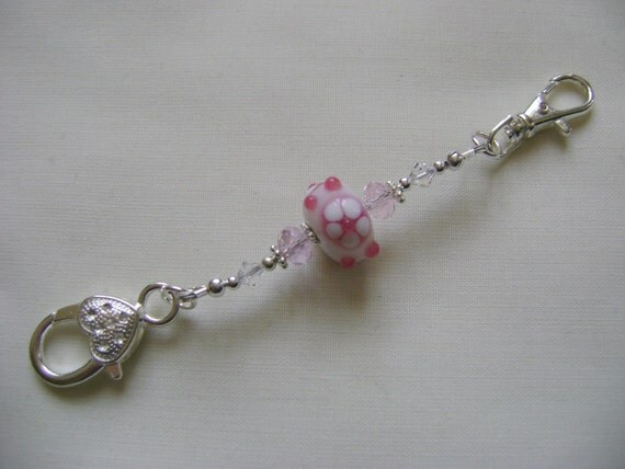 Candy Pink Flower Stitch Marker Holder From Yarnandcraft