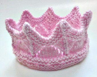 Mermaid Crown Soft Pink Queen Crown Princess Crown Headband Roleplay Earwarmer Child Size Age 2-6 Costume Renaissance Costume