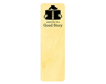 Good Story - Real Birch Wood Bookmark - Book Lover - Avid Reader - WM2124